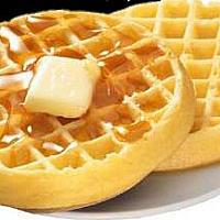 Waffle with Butter &Maple syrup