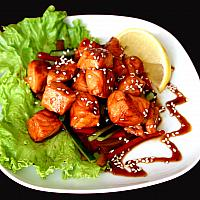 Warm Salmon Salad/ теплый салат с лососем