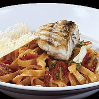 Tagliatelle with Grilled Red Snapper