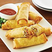 Vegetarian spring rolls x6