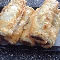 Sausage rolls and chips