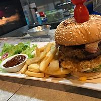 Black Angus Burger and Steak Fries