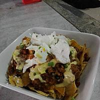 Beef Nachos with cheese