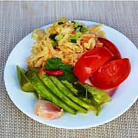Homemade pickles: tomatoes, cucumbers, cabbage / Домашние соленья: капуста, огурцы, помидоры