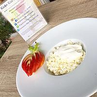 Cottage cheese with sour cream / Творог домашний со сметаной