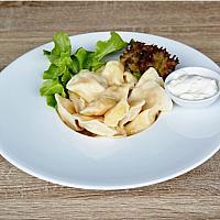 Vareniki with potatoes and mushrooms / Вареники с картофелем и грибами