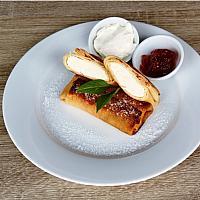 Pancakes stuffed with cottage cheese / Блины фаршированные домашним творогом