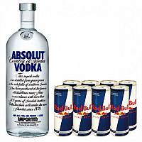 Absolut Vodka 1L + 6pcs Red Bull