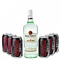 Bacardi (750ml)+6 Coke