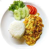 OMELETTE WITH PORK