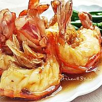 Saute King Prawns with Oyster sauce