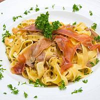 Linguine Parma ham