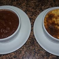 1 CHOCOLATE MOUSSE + CREME CARAMEL