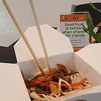 Wok soba with seafood