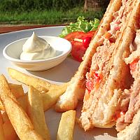 Fresh Tuna Sandwich + French Fries