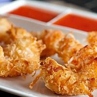 Crispy fried prawns