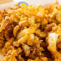 Deep fried squid with garlic