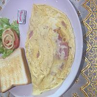 Omelette ham/cheese