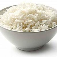 Steamed plain rice