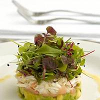 Crab avocado tartar