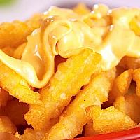 french fries with topping cheese