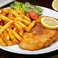 Vienna Schnitzel with French Fries