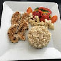 BROWN RICE WITH CHICKEN AND VEGETBLES