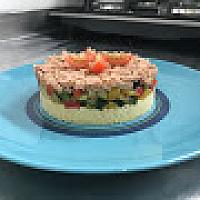 COUS COUS WITH TUNA AND MIX VEGETABLES