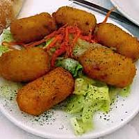 Potato cream fried