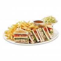 Club sandwich & French fries