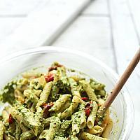 Penne with Mediterranean Vegetables & Pesto