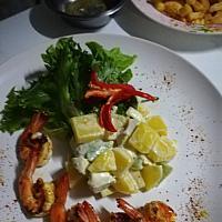 Prawn Avocado - Салат с авокадо и креветками - 虾和鳄梨沙拉