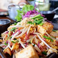 Phad Thai Goong - обжаренная лапша+креветки - 泰国炒虾仁