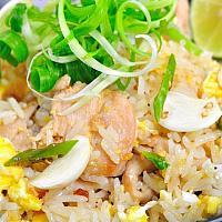 Fried Rice with Chicken - обжаренный рис - 蛋炒飯