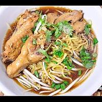 Pork noobles soup