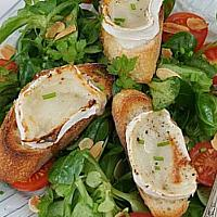 Salad  Hot Goat Cheese
