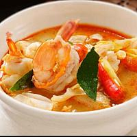 Tom Yum with seafood