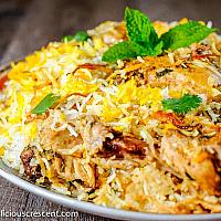 Biryani Yellow Rice with Chicken