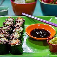 Vegan quinoa and brown rice Sushi Roll