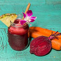 Pineapple, beetroot, carrot