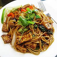 Pad Kee Mao with chicken