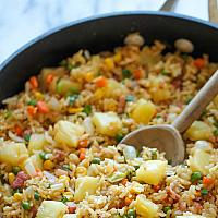Pineapple Fried Rice with Vegetable