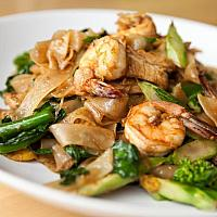 Pad See Ew with shrimp