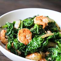 Stir Fried Kale Shrimp