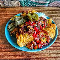 pulled pork Loaded Pulled cheesy Nachos