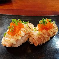 Spicy Grilled Salmon Sushi