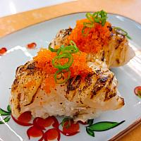 Spicy Grilled Scallops Sushi
