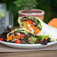 Vegan sweet potato wrap