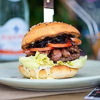 Gourmet wagyu beef burger