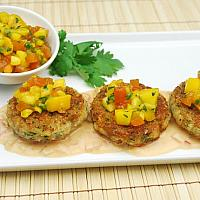 Alaskan King Crab Cakes with Mango Salsa 3 pieces